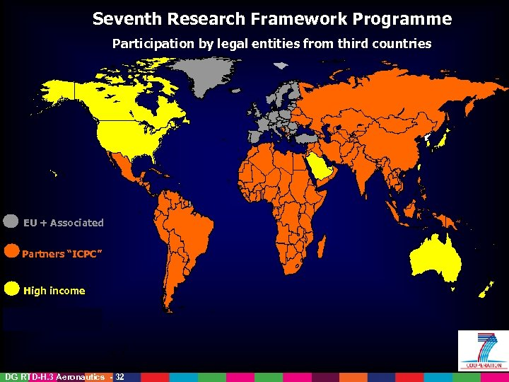 Seventh Research Framework Programme International Cooperation Participation by legal entities from third countries in