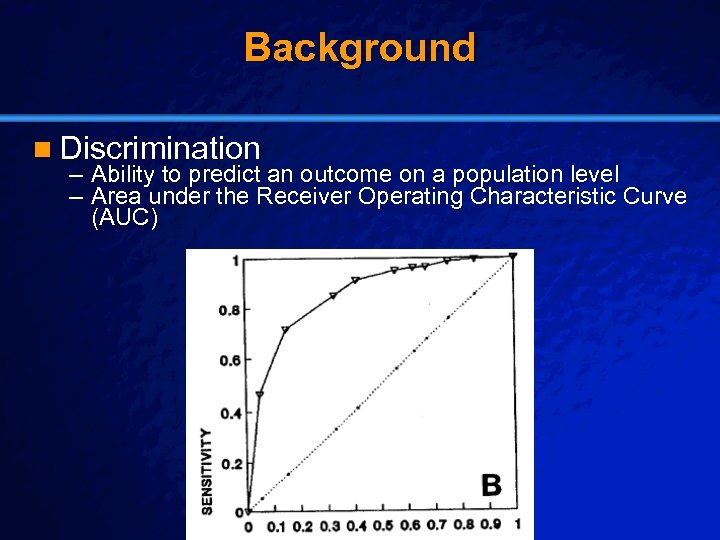 Slide 4 © 2003 By Default! Background n Discrimination – Ability to predict an