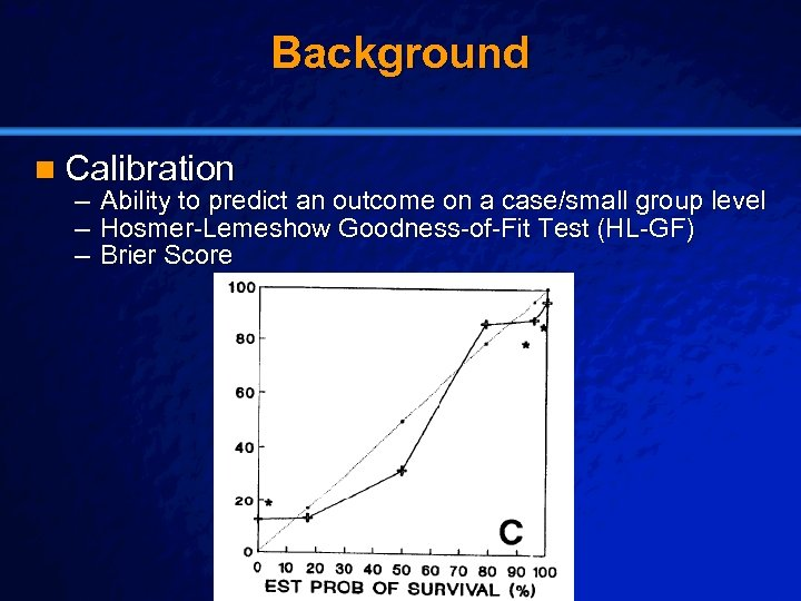 Slide 5 © 2003 By Default! Background n Calibration – Ability to predict an