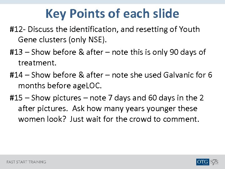 Key Points of each slide #12 - Discuss the identification, and resetting of Youth