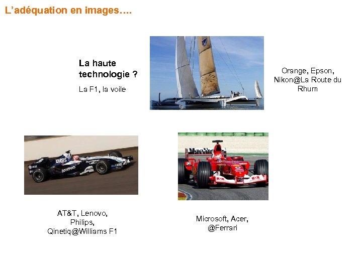 L'adéquation en images…. La haute technologie ? Orange, Epson, Nikon@La Route du Rhum La