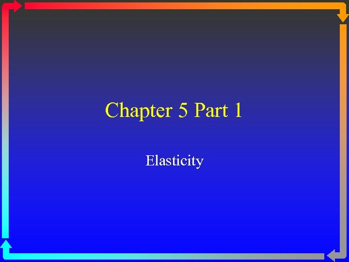 Chapter 5 Part 1 Elasticity