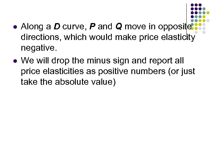 l l Along a D curve, P and Q move in opposite directions, which