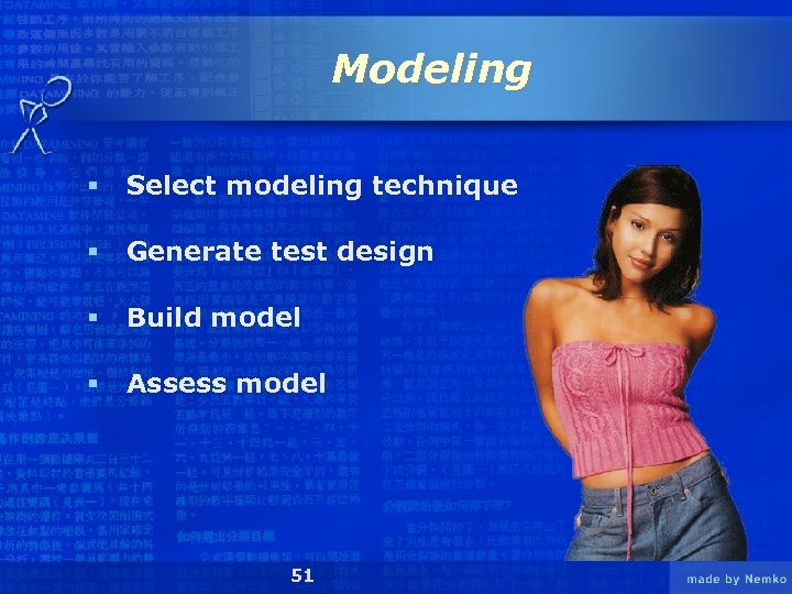 Modeling § Select modeling technique § Generate test design § Build model § Assess