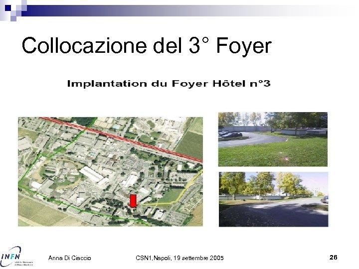 Collocazione del 3° Foyer Anna Di Ciaccio CSN 1, Napoli, 19 settembre 2005 26