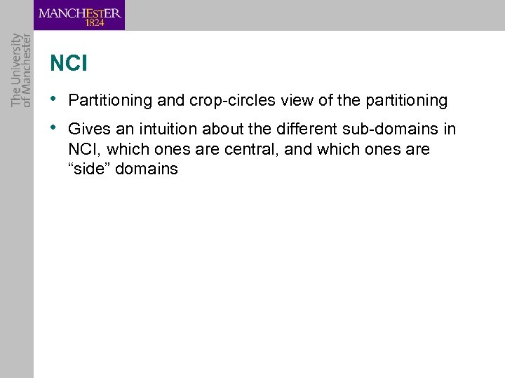 NCI • Partitioning and crop-circles view of the partitioning • Gives an intuition about