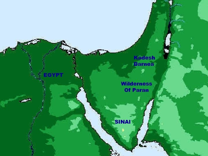 Kadesh Barnea EGYPT Wilderness Of Paran SINAI