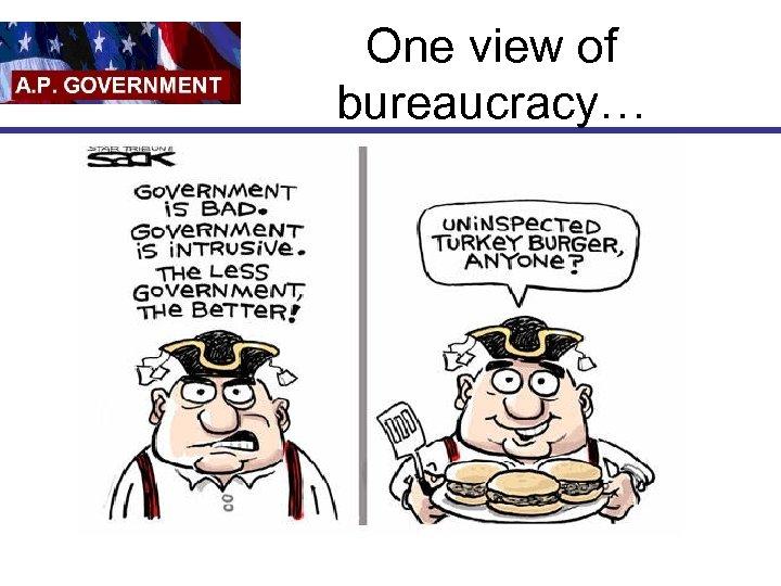 One view of bureaucracy…