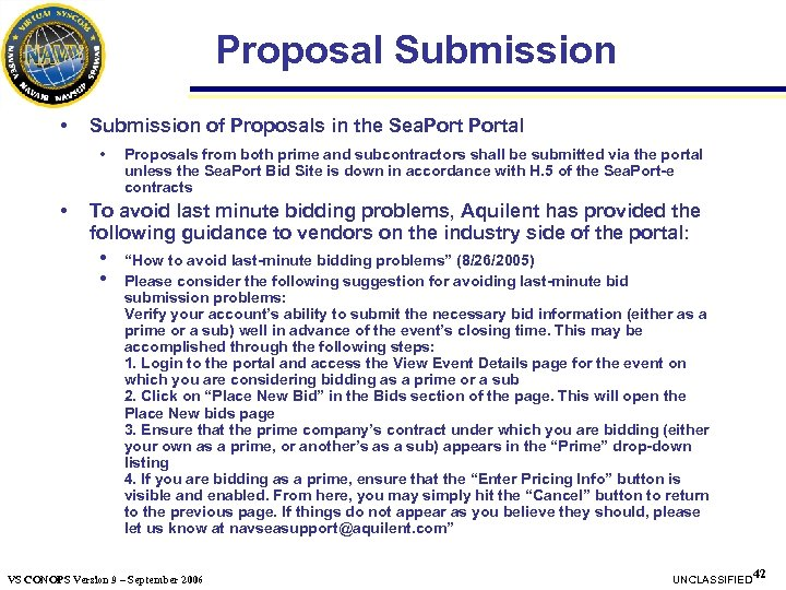 Proposal Submission • Submission of Proposals in the Sea. Portal • • Proposals from