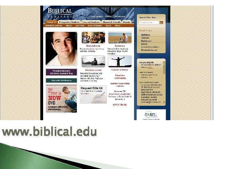 www. biblical. edu