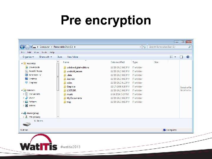 Pre encryption #watitis 2013
