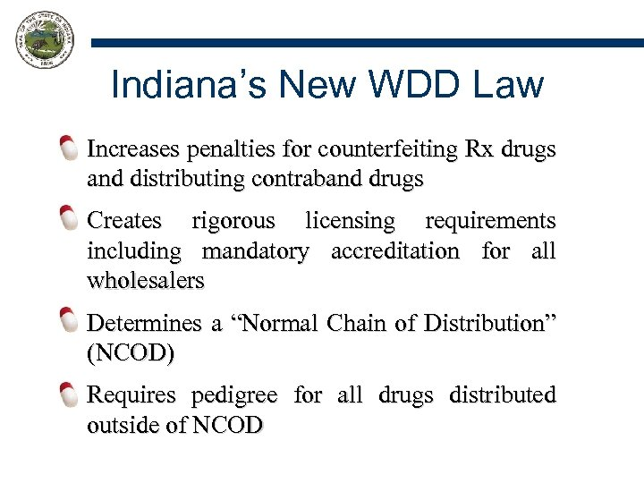 Indiana's New WDD Law Increases penalties for counterfeiting Rx drugs and distributing contraband drugs