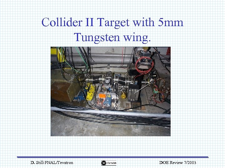 Collider II Target with 5 mm Tungsten wing. D. Still-FNAL/Tevatron DOE Review 7/2003