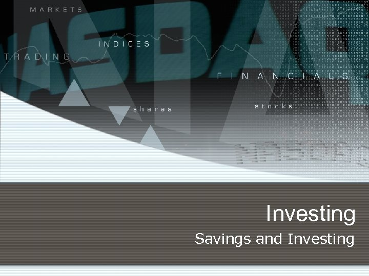 Investing Savings and Investing