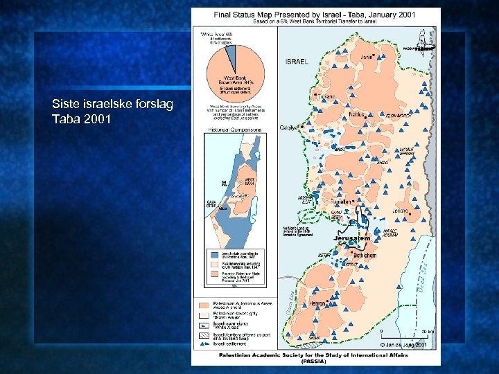 Siste israelske forslag Taba 2001
