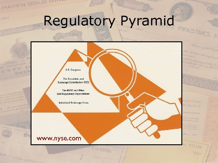 Regulatory Pyramid www. nyse. com