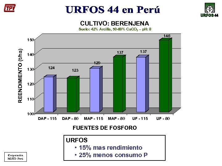 CULTIVO: BERENJENA Suelo: 42% Arcilla, 50 -60% Ca. CO 3 – p. H: 8