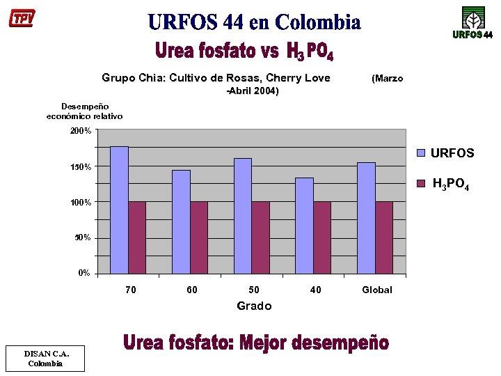 Grupo Chia: Cultivo de Rosas, Cherry Love (Marzo -Abril 2004) Desempeño económico relativo 200%