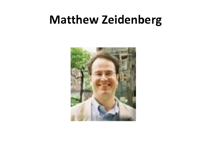 Matthew Zeidenberg