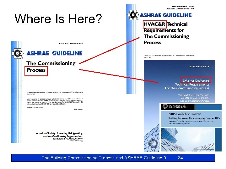 Where Is Here? The Building Commissioning Process and ASHRAE Guideline 0 34