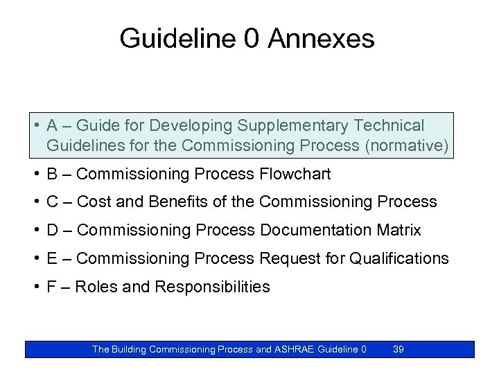 Guideline 0 Annexes • A – Guide for Developing Supplementary Technical Guidelines for the