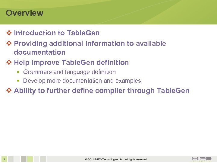 Overview Introduction to Table. Gen Providing additional information to available documentation Help improve Table.