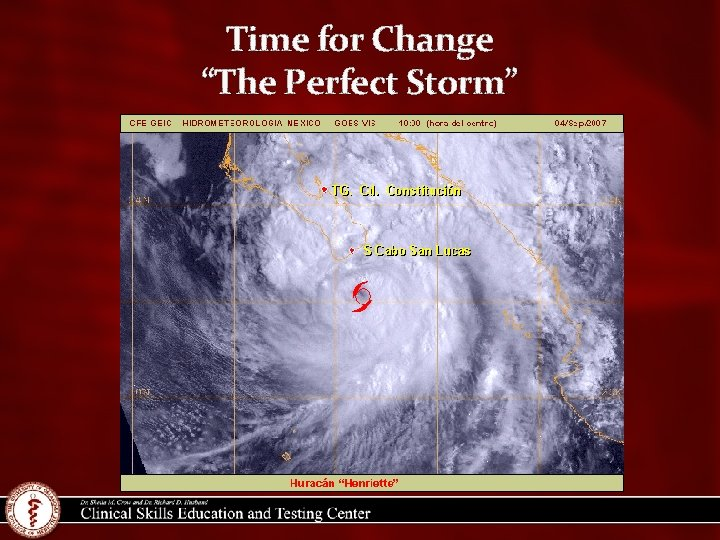 """Time for Change """"The Perfect Storm"""""""