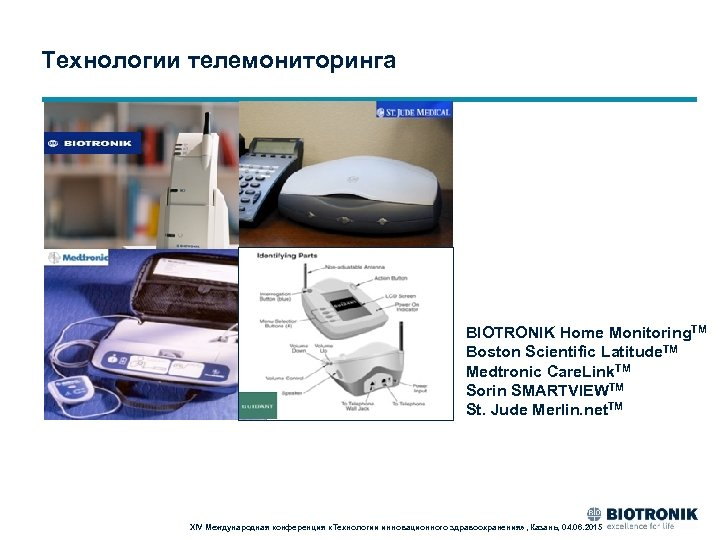 Технологии телемониторинга BIOTRONIK Home Monitoring. TM Boston Scientific Latitude. TM Medtronic Care. Link. TM