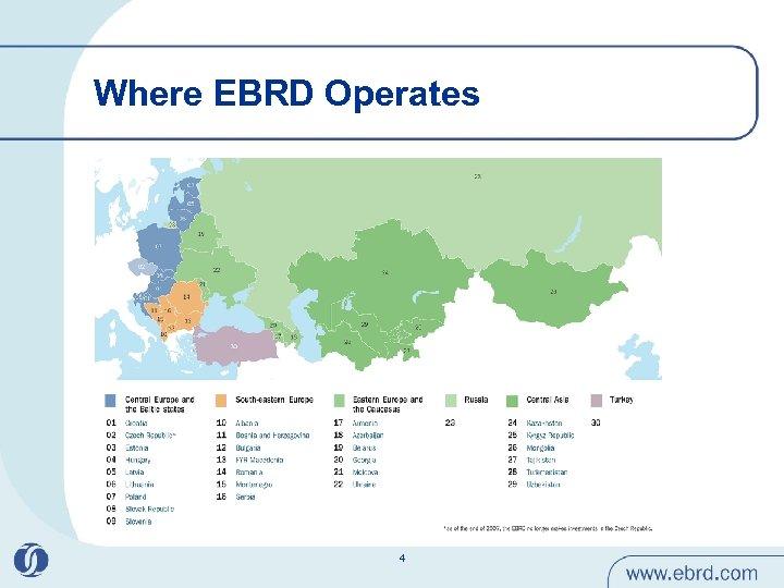 Where EBRD Operates 4