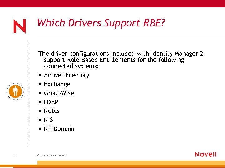 Which Drivers Support RBE? The driver configurations included with Identity Manager 2 support Role-Based