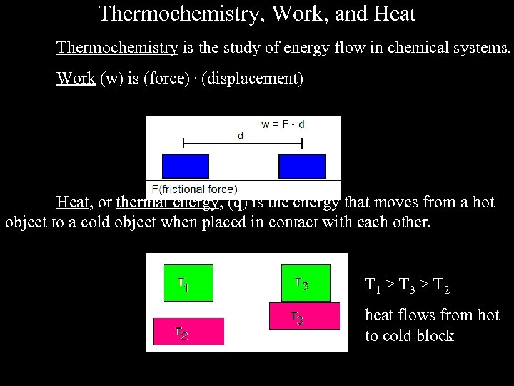 Thermochemistry, Work, and Heat Thermochemistry is the study of energy flow in chemical systems.