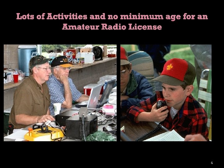 Lots of Activities and no minimum age for an Amateur Radio License 4