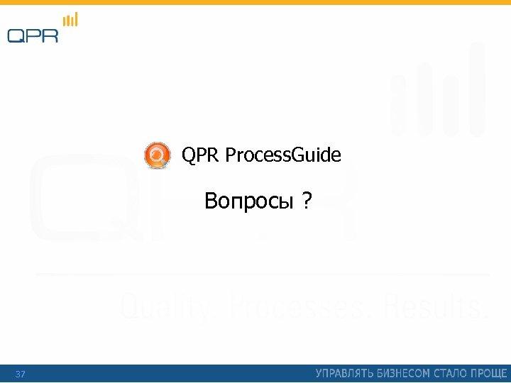 QPR Process. Guide Вопросы ? 37
