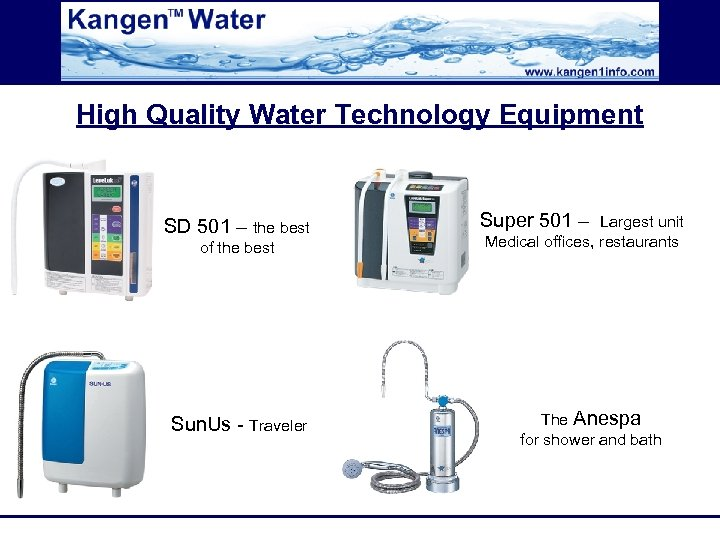 High Quality Water Technology Equipment SD 501 – the best of the best Sun.