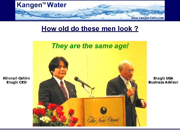 How old do these men look ? They are the same age! Hironari Oshiro