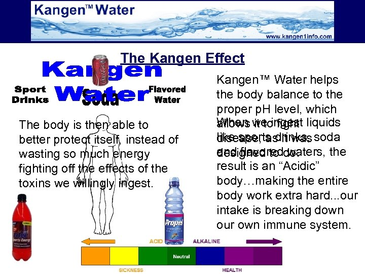The Kangen Effect The body is then able to better protect itself, instead of