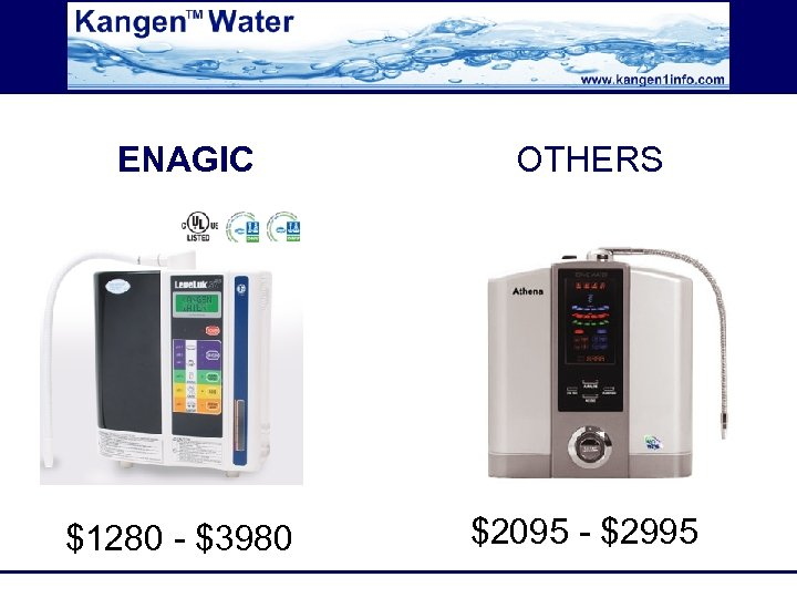 ENAGIC OTHERS $1280 - $3980 $2095 - $2995