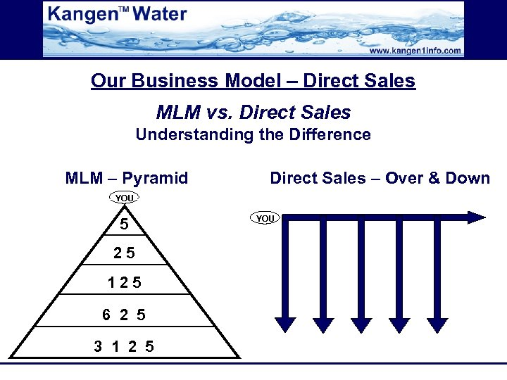 Our Business Model – Direct Sales MLM vs. Direct Sales Understanding the Difference MLM