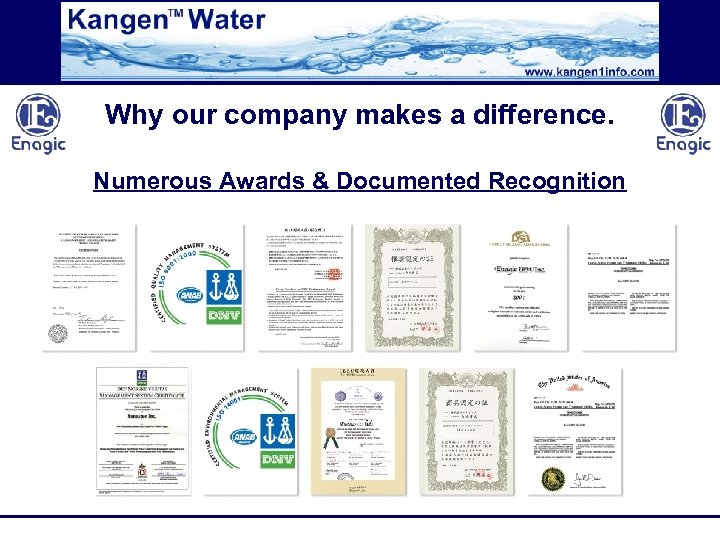 Why our company makes a difference. Numerous Awards & Documented Recognition