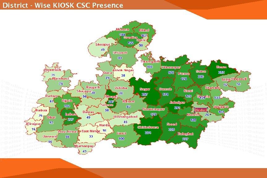 District - Wise KIOSK CSC Presence