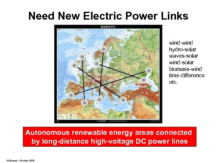 Need New Electric Power Links wind-wind hydro-solar waves-solar wind-solar biomass-wind time difference etc. Autonomous
