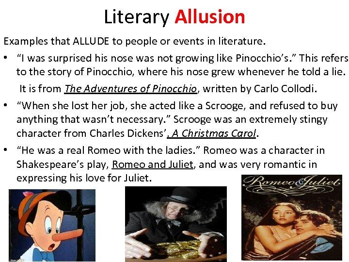 Allusion essay example sample understanding through famous.