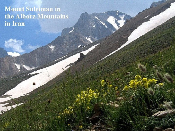 Mount Suleiman in the Alborz Mountains in Iran
