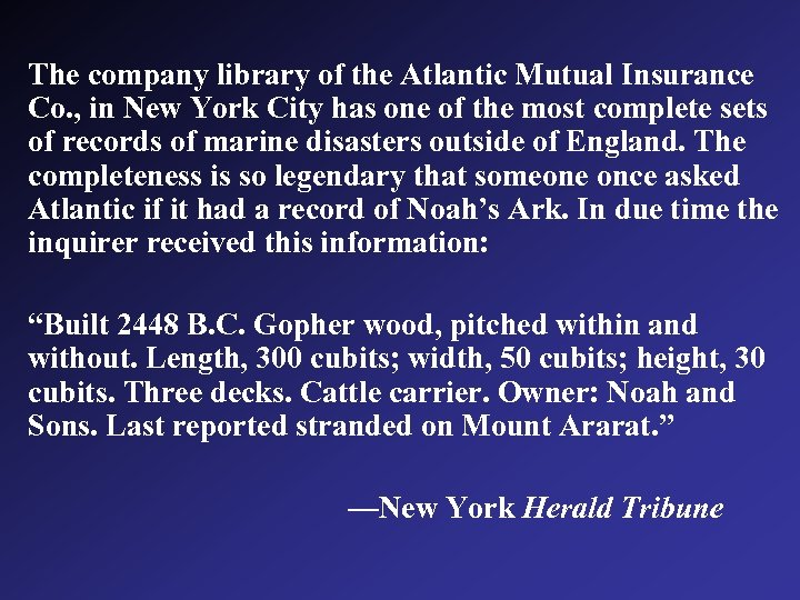 The company library of the Atlantic Mutual Insurance Co. , in New York City