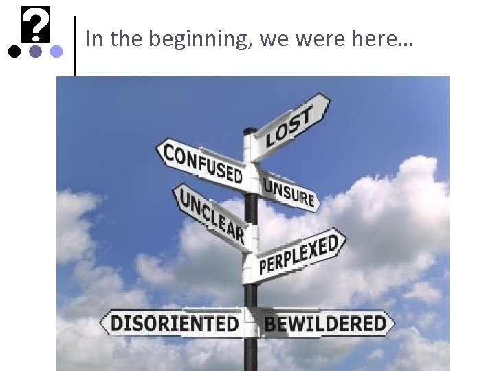 In the beginning, we were here…