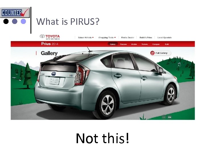 What is PIRUS? Not this!