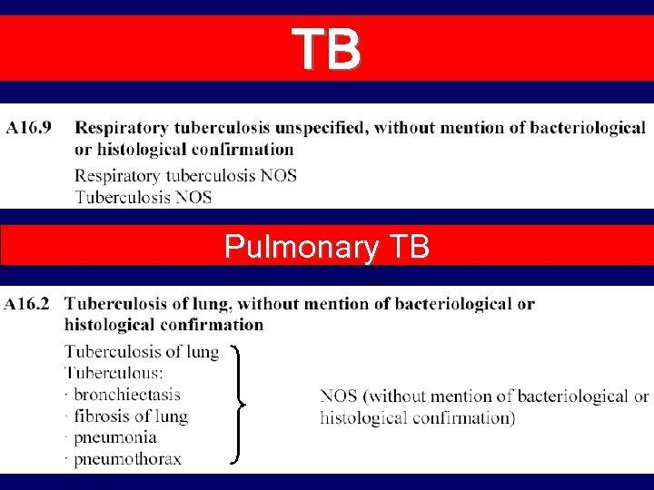 TB Pulmonary TB