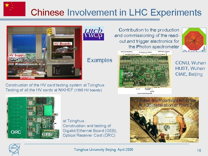 Chinese Involvement in LHC Experiments Contribution to the production and commissioning of the readout