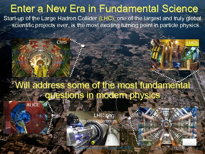 Enter a New Era in Fundamental Science Start-up of the Large Hadron Collider (LHC),