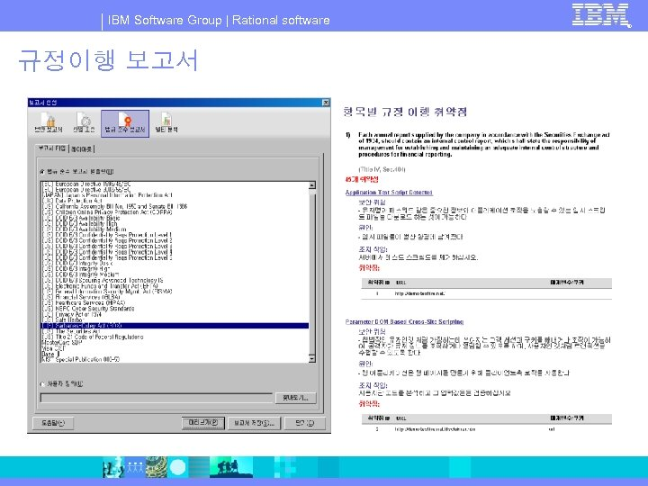 IBM Software Group | Rational software 규정이행 보고서 ®